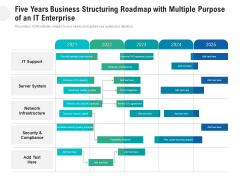 Five Years Business Structuring Roadmap With Multiple Purpose Of An It Enterprise Introduction