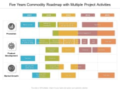 Five Years Commodity Roadmap With Multiple Project Activities Inspiration