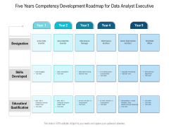 Five Years Competency Development Roadmap For Data Analyst Executive Demonstration