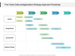 Five Years Data Amalgamation Strategy Approach Roadmap Background