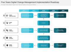 Five Years Digital Change Management Implementation Roadmap Pictures