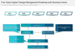 Five Years Digital Change Management Roadmap With Business Vision Structure
