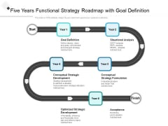 Five Years Functional Strategy Roadmap With Goal Definition Slides