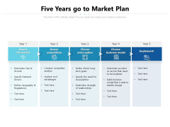 Five Years Go To Market Plan Ppt PowerPoint Presentation Gallery Design Ideas PDF
