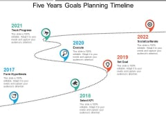 Five Years Goals Planning Timeline Ppt PowerPoint Presentation Tips