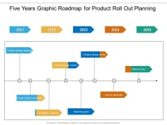 Five Years Graphic Roadmap For Product Roll Out Planning Microsoft