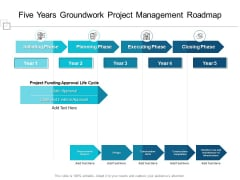 Five Years Groundwork Project Management Roadmap Professional
