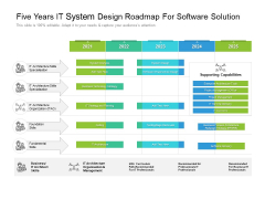 Five Years IT System Design Roadmap For Software Solution Download