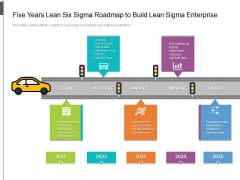 Five Years Lean Six Sigma Roadmap To Build Lean Sigma Enterprise Topics