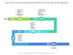 Five Years Personal Revamping Financial Plan Roadmap With Tax Management Topics