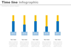 Five Years Planning Timeline Chart Powerpoint Slides