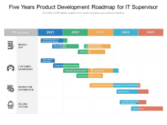 Five Years Product Development Roadmap For IT Supervisor Background