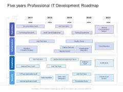 Five Years Professional IT Development Roadmap Graphics