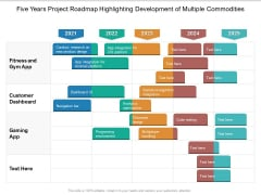 Five Years Project Roadmap Highlighting Development Of Multiple Commodities Download