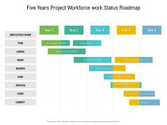 Five Years Project Workforce Work Status Roadmap Professional
