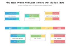 Five Years Project Workplan Timeline With Multiple Tasks Ideas