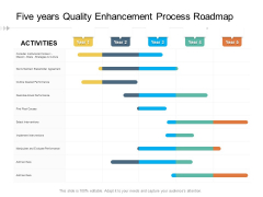 Five Years Quality Enhancement Process Roadmap Icons