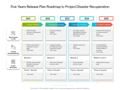 Five Years Release Plan Roadmap To Project Disaster Recuperation Topics