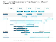 Five Years Roadmap Example For Project Supervision Office With Different Phases Designs