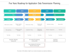 Five Years Roadmap For Application Data Transmission Planning Rules