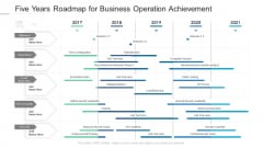 Five Years Roadmap For Business Operation Achievement Inspiration