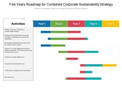 Five Years Roadmap For Combined Corporate Sustainability Strategy Diagrams