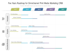 Five Years Roadmap For Omnichannel Print Media Marketing CRM Rules