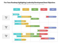 Five Years Roadmap Highlighting Leadership Development Smart Objectives Mockup