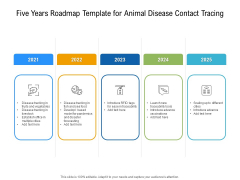 Five Years Roadmap Template For Animal Disease Contact Tracing Template