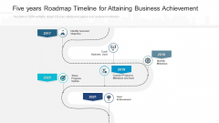 Five Years Roadmap Timeline For Attaining Business Achievement Sample