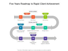 Five Years Roadmap To Rapid Client Achievement Diagrams