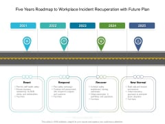 Five Years Roadmap To Workplace Incident Recuperation With Future Plan Infographics