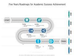 Five Years Roadmaps For Academic Success Achievement Microsoft