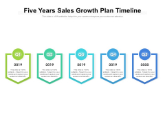 Five Years Sales Growth Plan Timeline Ppt PowerPoint Presentation Layouts Styles PDF