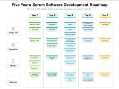 Five Years Scrum Software Development Roadmap Graphics
