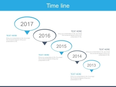 Five Years Sequential Timeline For Business Powerpoint Slides