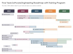 Five Years Software Engineering Roadmap With Training Program Brochure