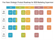 Five Years Strategic Product Roadmap For B2B Marketing Supervisor Guidelines