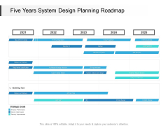 Five Years System Design Planning Roadmap Infographics