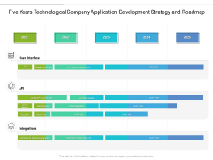 Five Years Technological Company Application Development Strategy And Roadmap Ideas
