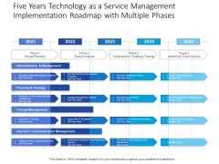 Five Years Technology As A Service Management Implementation Roadmap With Multiple Phases Structure