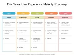Five Years User Experience Maturity Roadmap Diagrams