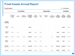 Fixed Assets Annual Report Ppt PowerPoint Presentation Inspiration Show