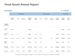 Fixed Assets Annual Report Ppt PowerPoint Presentation Summary Sample
