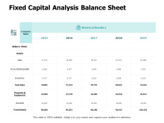 Fixed Capital Analysis Balance Sheet Ppt PowerPoint Presentation Icon Example File