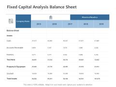Fixed Capital Analysis Balance Sheet Ppt PowerPoint Presentation Inspiration Elements