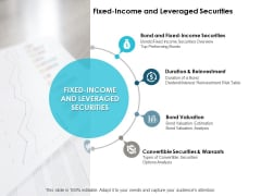 Fixed Income And Leveraged Securities Ppt PowerPoint Presentation Professional Inspiration