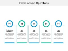 Fixed Income Operations Ppt PowerPoint Presentation Model Structure Cpb