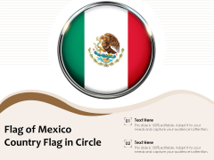 Flag Of Mexico Country Flag In Circle Ppt PowerPoint Presentation Slides Background Designs PDF