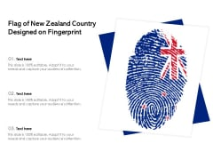 Flag Of New Zealand Country Designed On Fingerprint Ppt PowerPoint Presentation Gallery Example Introduction PDF